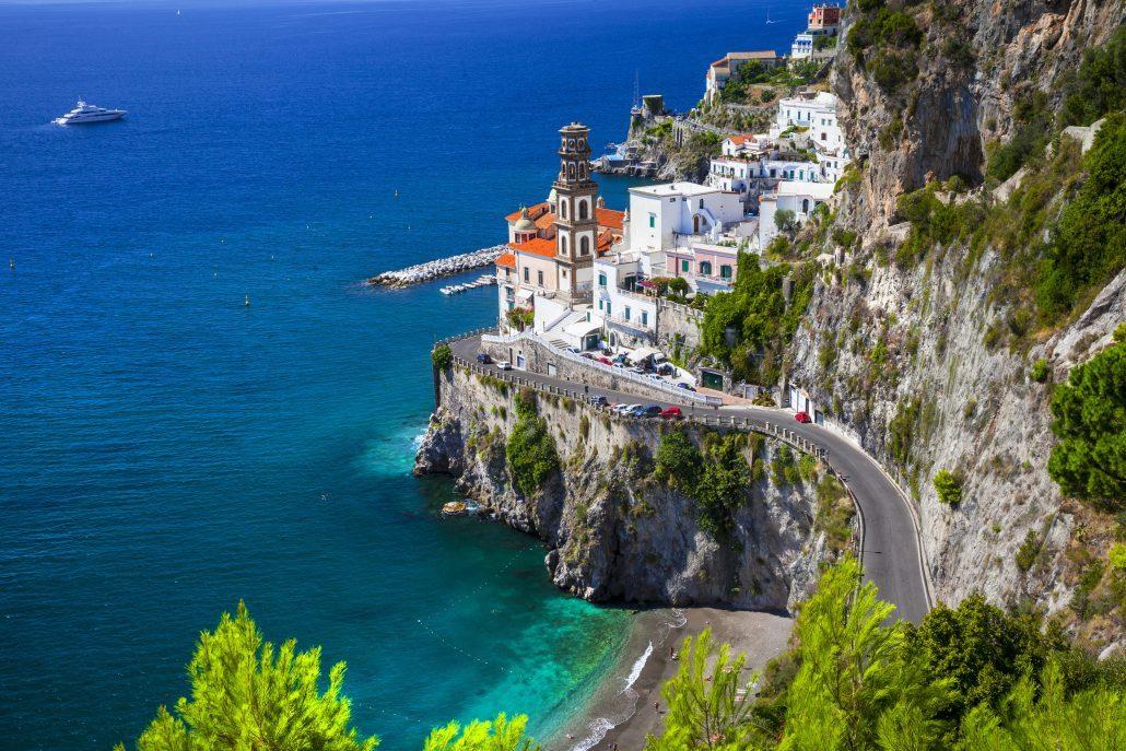 Amalfi-coast-of-Italy-view-of-Atrani