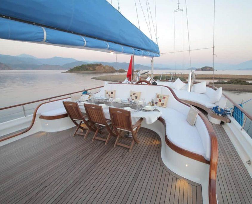 ECE BERRAK Dining area on Aft deck