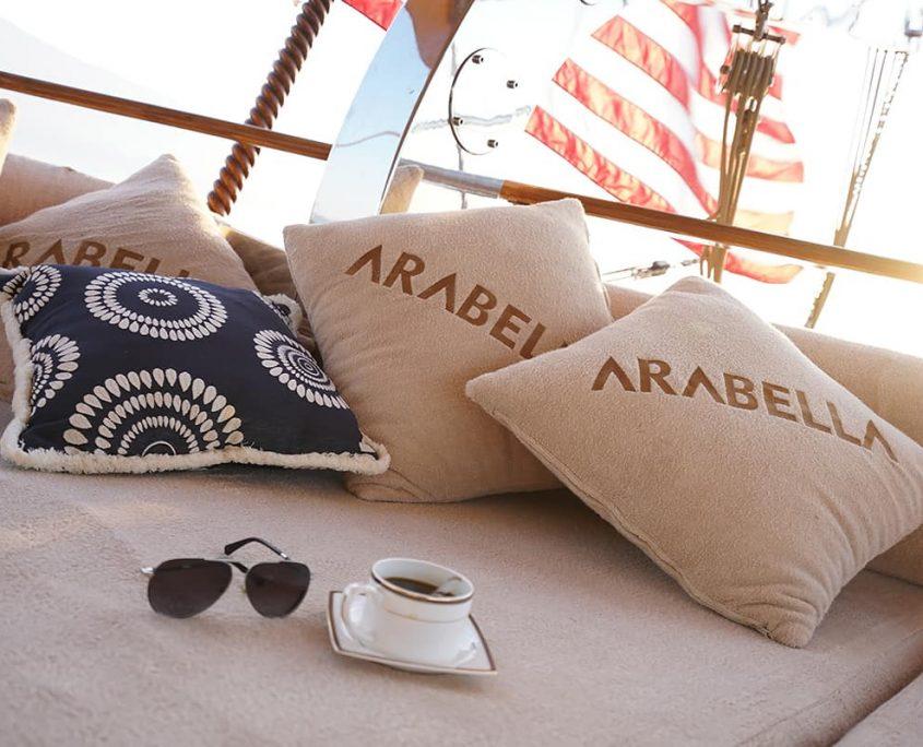 ARABELLA Cushioned area on Aft deck