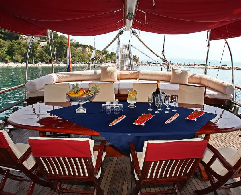 NOSTRA VITA Dining area on Aft deck