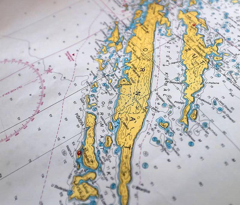 NEVIJANA Map of Kornati Islands