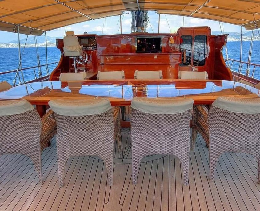 GORA Dining area on Aft deck