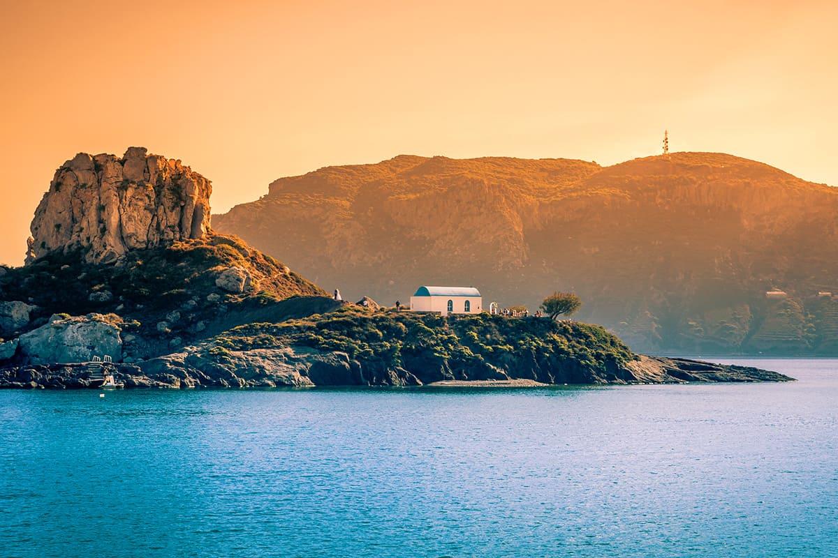Kastri island in Kefalos Bay, Kos