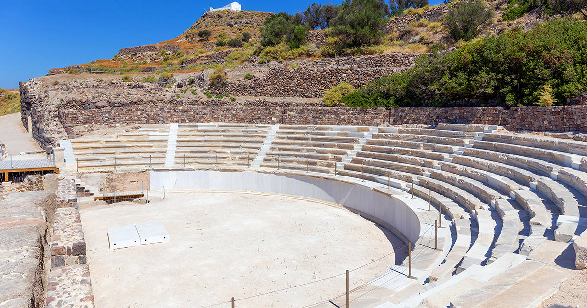 Ancient Roman theater, Milos island, Greece
