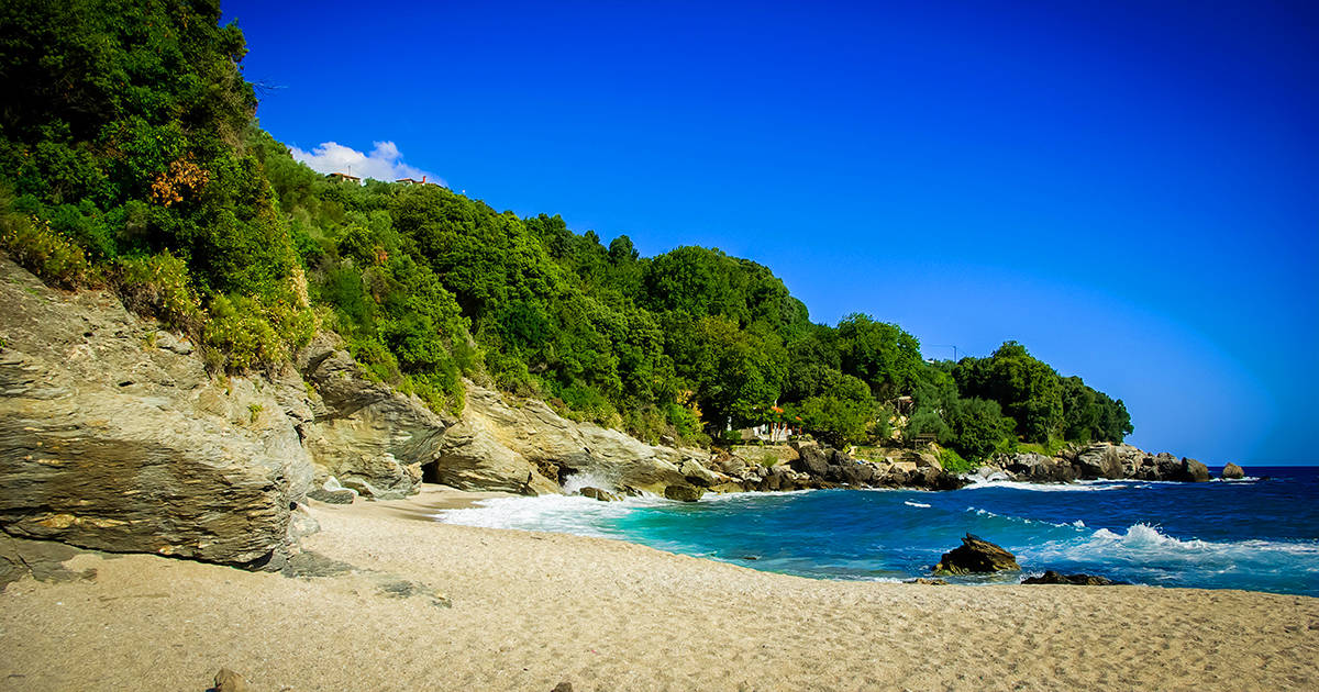 Plaka beach, Pelion, Greece